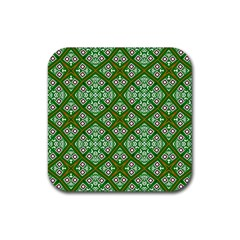 Digital Computer Graphic Seamless Geometric Ornament Rubber Coaster (square)