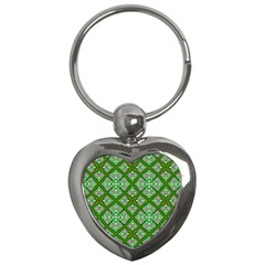 Digital Computer Graphic Seamless Geometric Ornament Key Chains (heart)