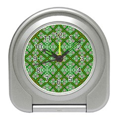Digital Computer Graphic Seamless Geometric Ornament Travel Alarm Clocks