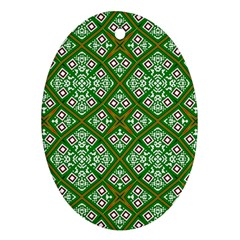Digital Computer Graphic Seamless Geometric Ornament Oval Ornament (Two Sides)