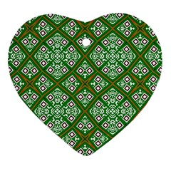 Digital Computer Graphic Seamless Geometric Ornament Heart Ornament (Two Sides)