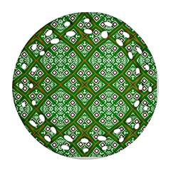 Digital Computer Graphic Seamless Geometric Ornament Round Filigree Ornament (Two Sides)