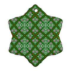 Digital Computer Graphic Seamless Geometric Ornament Snowflake Ornament (Two Sides)