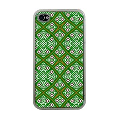 Digital Computer Graphic Seamless Geometric Ornament Apple iPhone 4 Case (Clear)
