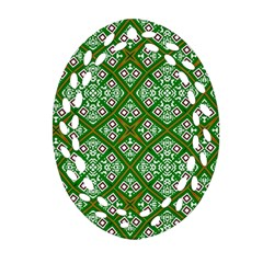 Digital Computer Graphic Seamless Geometric Ornament Oval Filigree Ornament (two Sides)