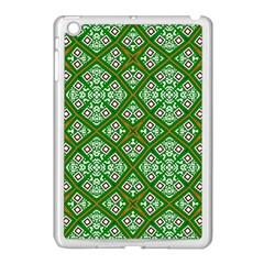 Digital Computer Graphic Seamless Geometric Ornament Apple iPad Mini Case (White)