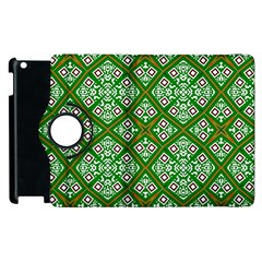 Digital Computer Graphic Seamless Geometric Ornament Apple iPad 2 Flip 360 Case