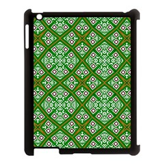 Digital Computer Graphic Seamless Geometric Ornament Apple iPad 3/4 Case (Black)