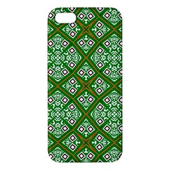 Digital Computer Graphic Seamless Geometric Ornament Apple iPhone 5 Premium Hardshell Case