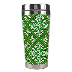 Digital Computer Graphic Seamless Geometric Ornament Stainless Steel Travel Tumblers