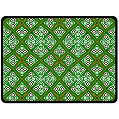 Digital Computer Graphic Seamless Geometric Ornament Double Sided Fleece Blanket (Large)