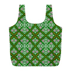 Digital Computer Graphic Seamless Geometric Ornament Full Print Recycle Bags (L)