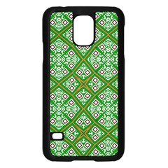 Digital Computer Graphic Seamless Geometric Ornament Samsung Galaxy S5 Case (Black)