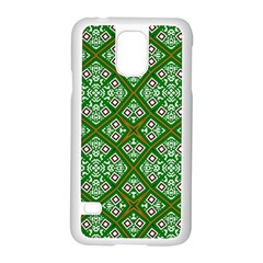 Digital Computer Graphic Seamless Geometric Ornament Samsung Galaxy S5 Case (White)