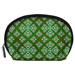 Digital Computer Graphic Seamless Geometric Ornament Accessory Pouches (Large)