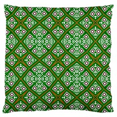 Digital Computer Graphic Seamless Geometric Ornament Large Flano Cushion Case (Two Sides)