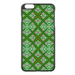 Digital Computer Graphic Seamless Geometric Ornament Apple iPhone 6 Plus/6S Plus Black Enamel Case
