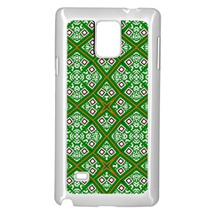 Digital Computer Graphic Seamless Geometric Ornament Samsung Galaxy Note 4 Case (White)