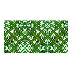 Digital Computer Graphic Seamless Geometric Ornament Satin Wrap