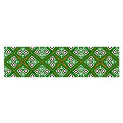 Digital Computer Graphic Seamless Geometric Ornament Satin Scarf (oblong)