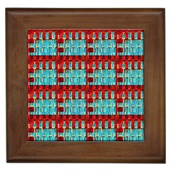 Architectural Abstract Pattern Framed Tiles