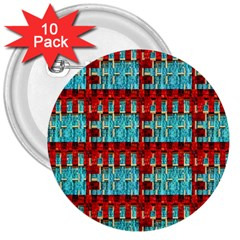 Architectural Abstract Pattern 3  Buttons (10 Pack)