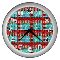 Architectural Abstract Pattern Wall Clocks (silver)