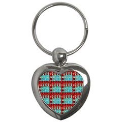 Architectural Abstract Pattern Key Chains (Heart)