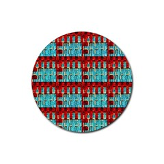 Architectural Abstract Pattern Rubber Coaster (round)