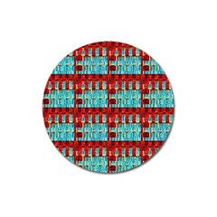 Architectural Abstract Pattern Magnet 3  (Round)