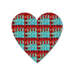 Architectural Abstract Pattern Heart Magnet