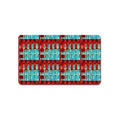 Architectural Abstract Pattern Magnet (name Card)