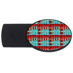 Architectural Abstract Pattern USB Flash Drive Oval (2 GB)