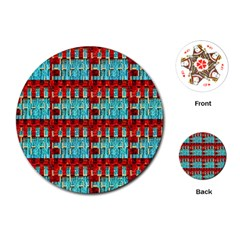 Architectural Abstract Pattern Playing Cards (round)