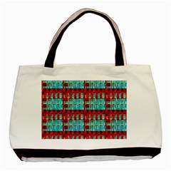 Architectural Abstract Pattern Basic Tote Bag