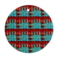Architectural Abstract Pattern Round Ornament (Two Sides)