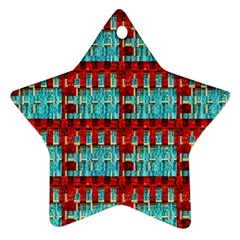 Architectural Abstract Pattern Star Ornament (two Sides)