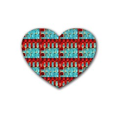 Architectural Abstract Pattern Heart Coaster (4 Pack)