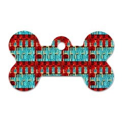 Architectural Abstract Pattern Dog Tag Bone (one Side)