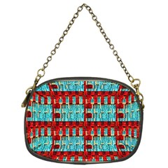 Architectural Abstract Pattern Chain Purses (two Sides)