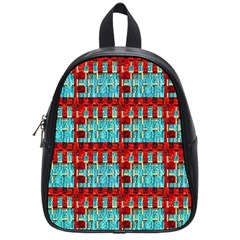 Architectural Abstract Pattern School Bags (small)