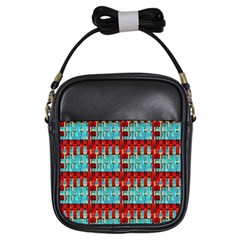 Architectural Abstract Pattern Girls Sling Bags