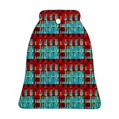 Architectural Abstract Pattern Bell Ornament (Two Sides)