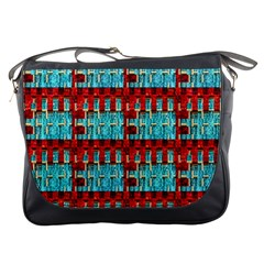 Architectural Abstract Pattern Messenger Bags