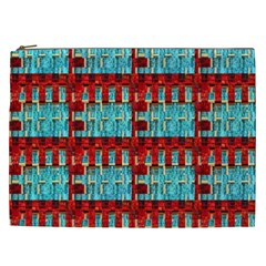 Architectural Abstract Pattern Cosmetic Bag (XXL)