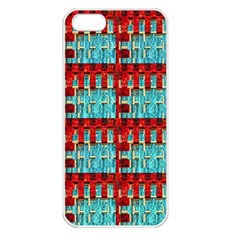 Architectural Abstract Pattern Apple iPhone 5 Seamless Case (White)