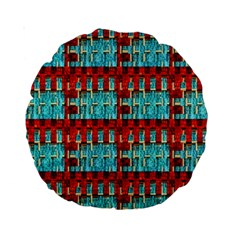Architectural Abstract Pattern Standard 15  Premium Round Cushions