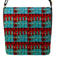 Architectural Abstract Pattern Flap Messenger Bag (S)
