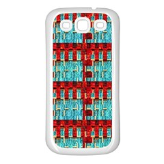 Architectural Abstract Pattern Samsung Galaxy S3 Back Case (White)