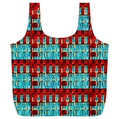 Architectural Abstract Pattern Full Print Recycle Bags (L)